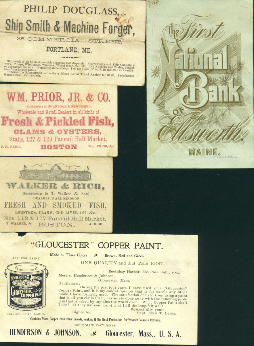 Advertising cards turn of 20th century