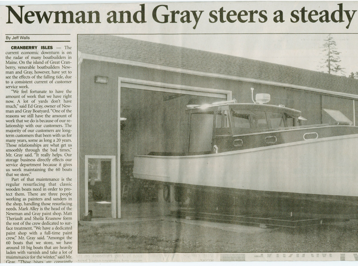 """""""Newman and Gray steers a steady course"""" article 2008"""