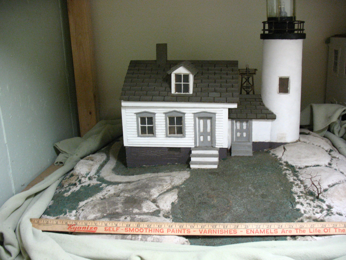 Model of Baker Island Lighthouse (from Great Harbor Maritime Museum collection)