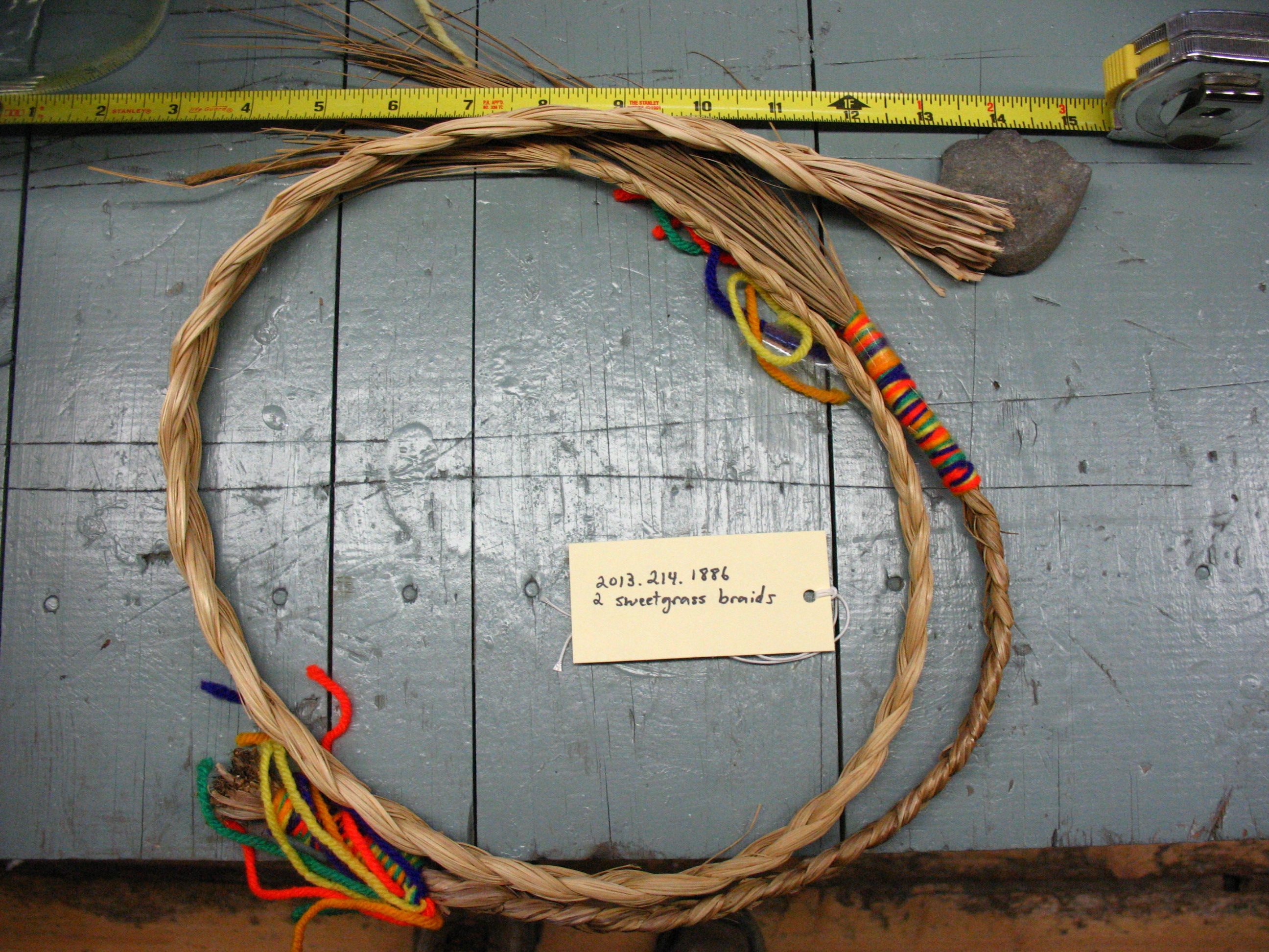 Native American crafted sweetgrass braids