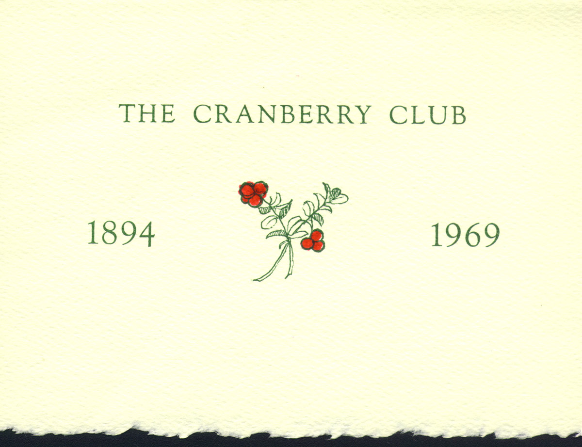 Cranberry Club Invitation