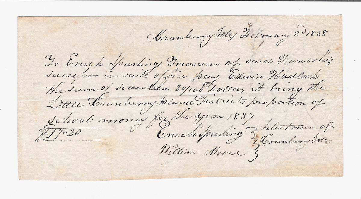 Town of Cranberry Isles records - 1838