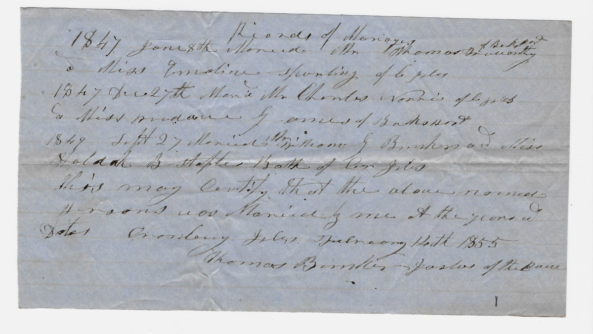 Town of Cranberry Isles records - 1855