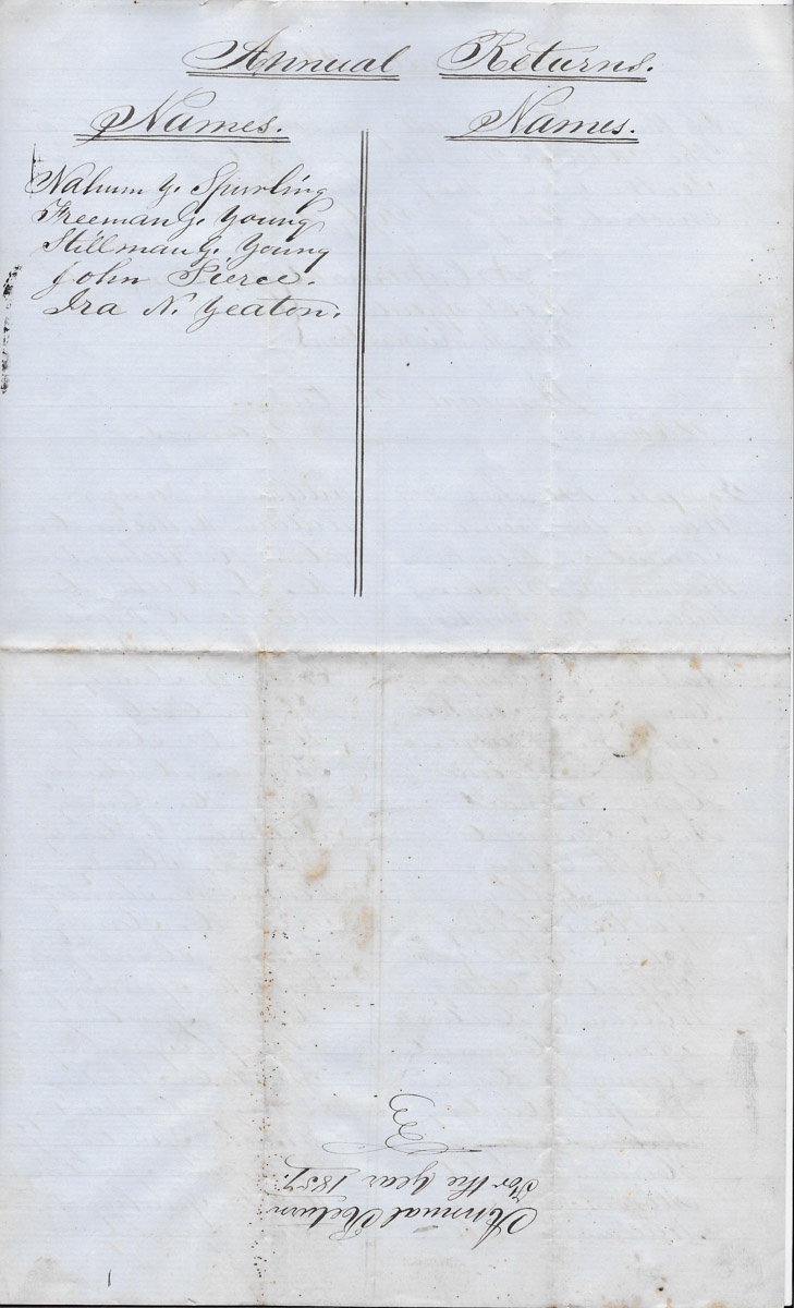 Town of Cranberry Isles records - 1857