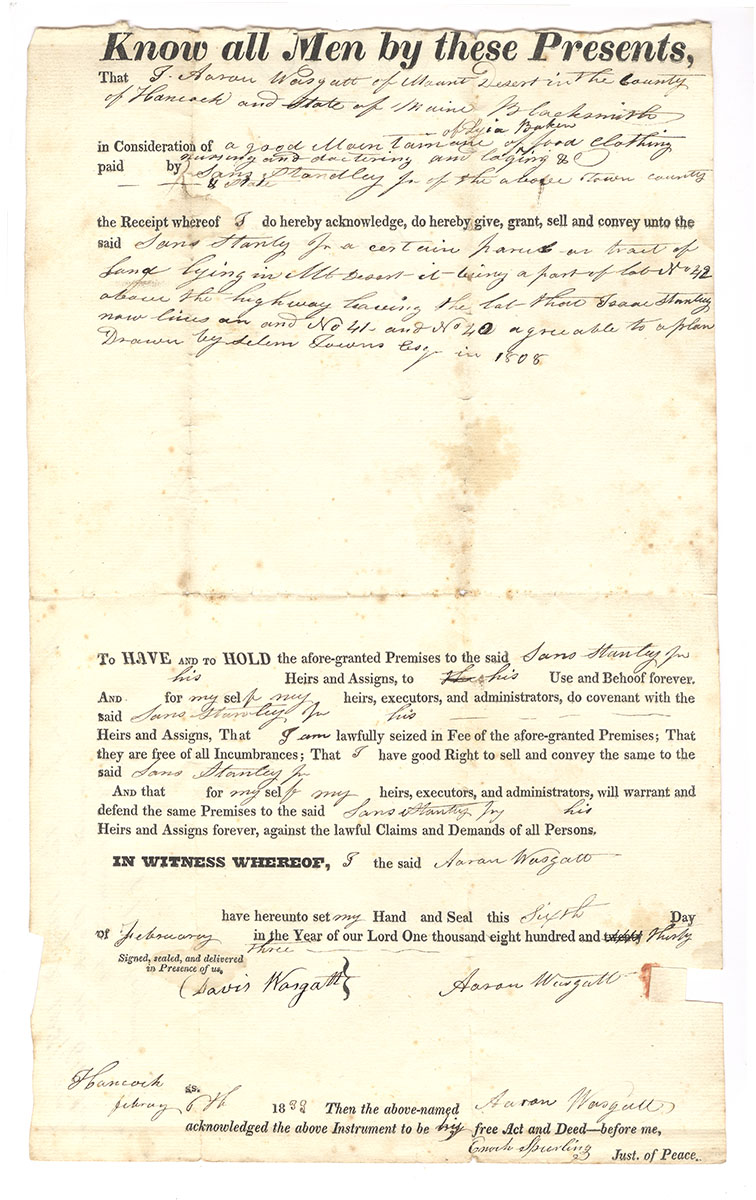 Miscellaneous deeds and receipts 1800s